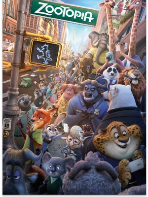 The all-animal city of 'Zootopia.'