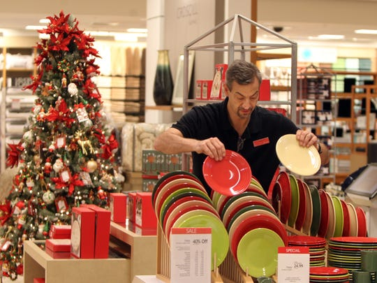 Robert Glasshouse, a manager at Macy's Downtown store,
