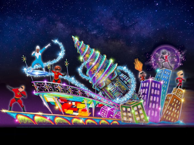The Paint the Night parade will include a new Incredibles