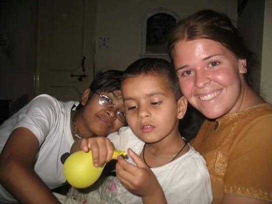 Kayla Mueller volunteered at Food for Life Vrindavan