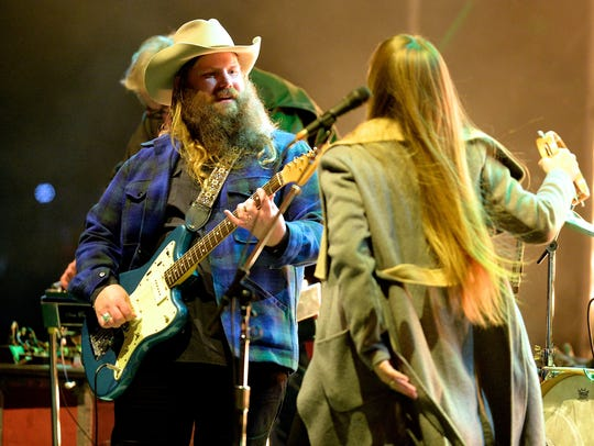 Chris Stapleton performs during the Jack Daniel's Bash