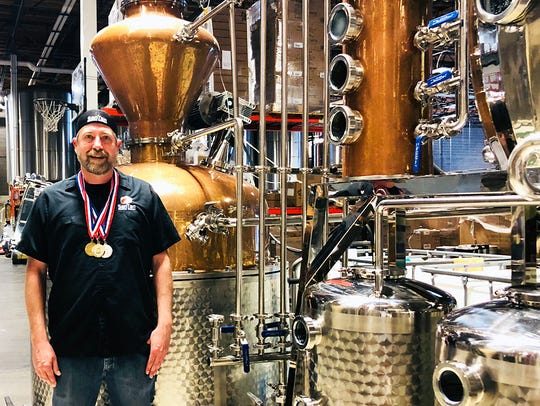 Brant Gasparek is the head distiller for SanTan Distilling.