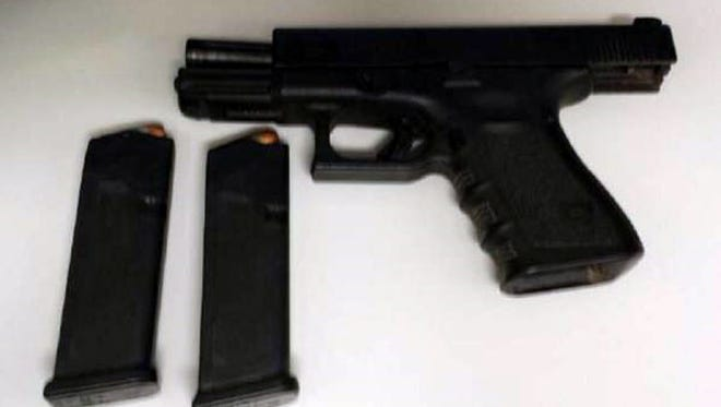 TSA agents confiscated two guns at Phoenix Sky Harbor airport on March 3, 2015.