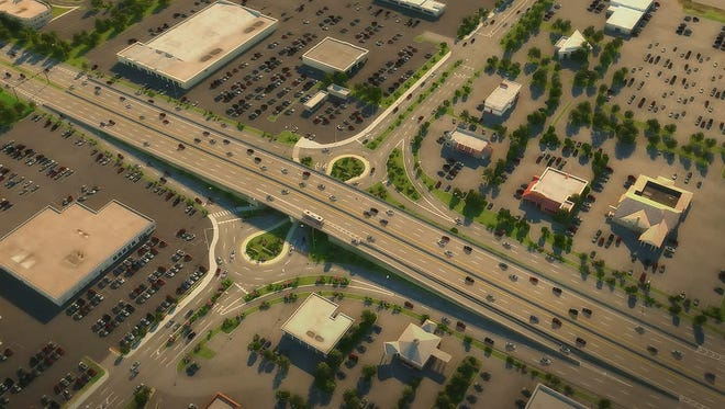 Carmel will build a roundabout-style interchange at Keystone Parkway and 96th Street.
