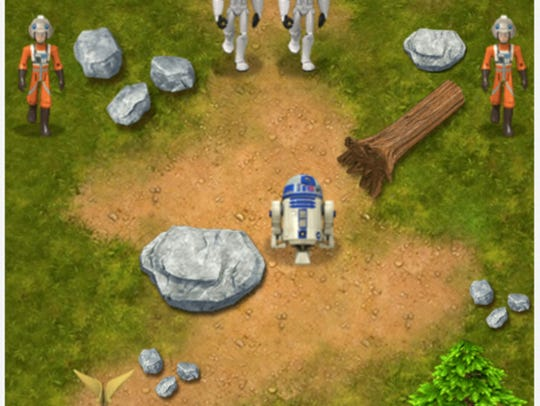 A scene from one of the Star Wars games that kids can