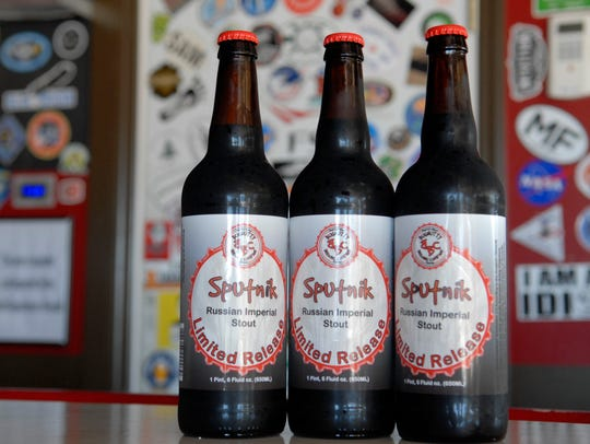 The Sputnik Russian Imperial Stout brewed by the Bugnutty
