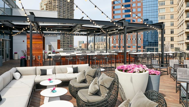 Noyane opened at the top of the Conrad Chicago on May 22. The seasonal restaurant, meaning hidden roof in Japanese, offers skyline views beneath string lights.