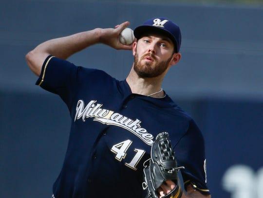 Milwaukee Brewers starting pitcher Taylor Jungmann
