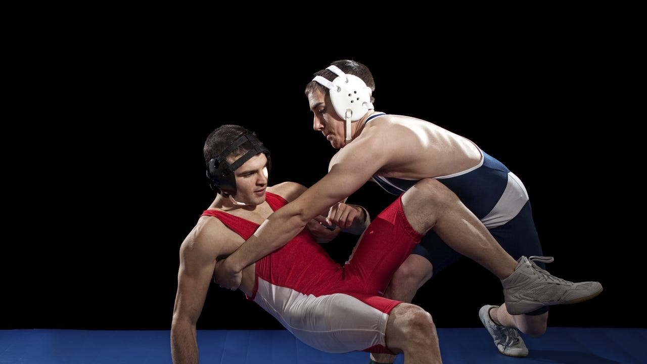 Gettysburg wrestling used three pins in the heaviest weights to rumble last Dover on Jan. 5, 2017.