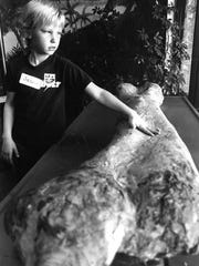 Jason Moore of Sam Houston Elementary School in this February 1991 Times Record News file photograph checks out a bone at the Wichita Falls Museum and Art Center. The facility once focused on not just art but science, too. Now a part of MSU, the Wichita Falls Museum of Art concentrates on the visual arts. The WFMA is 50 years old this year.