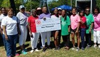 The Leon County Chapter of Charmettes Inc. supported the 33rd Annual Relay for Life Leon-Havana with a $1,000 donation and wigs for cancer patients.