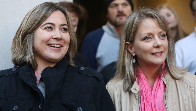 Cari Searcy, left, and Kim McKeand