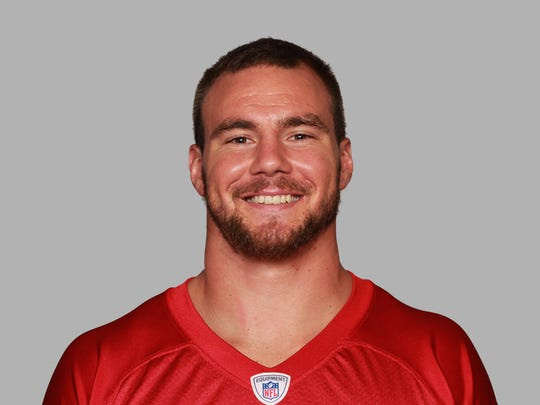 This is a 2014 photo of Zeke Motta when he was with the Atlanta Falcons. The former Vero Beach High School football standout now is retired from football.
