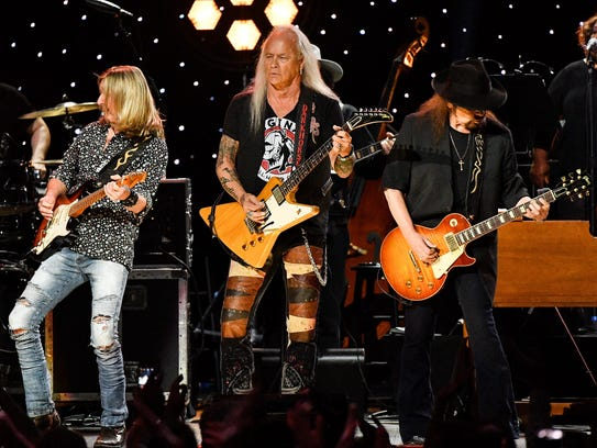 Lynyrd Skynyrd performs during the Charlie Daniels