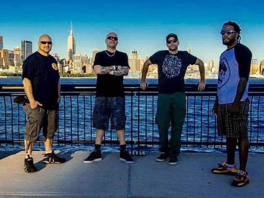 Members of the band Full Scale Riot. The band will participate in a benefit in Nyack, April 21
