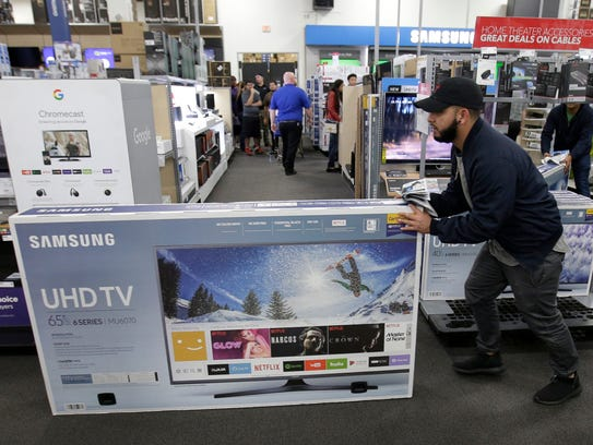 If you are looking for a good deal a television, January