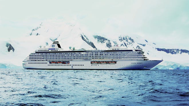 This undated handout photo obtained Aug. 24, 2016 courtesy of Crystal Cruises,LLC, shows the cruise ship Crystal Serenity.