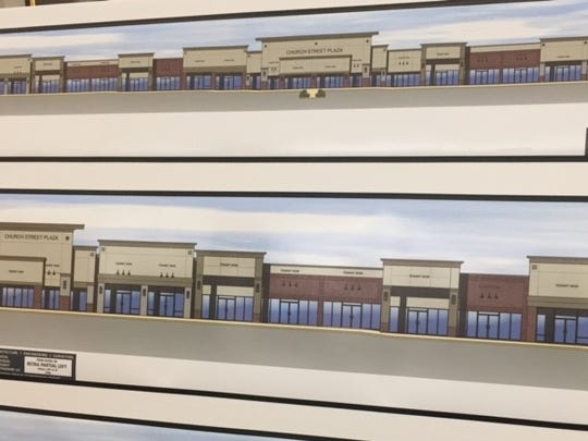 A rendering of a 32,000-square-foot commercial building proposed for Route 9 in Toms River.
