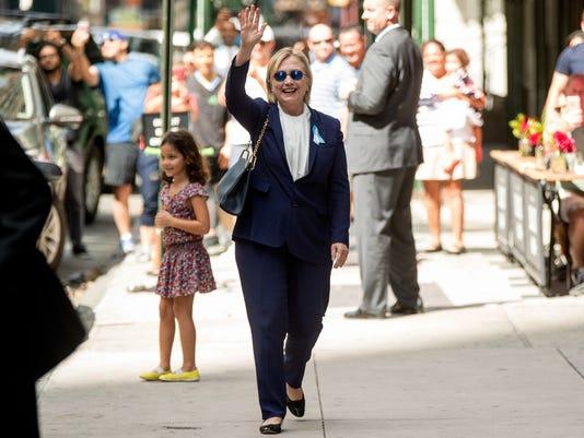 AP CAMPAIGN 2016 CLINTON A ELN USA NY