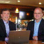 Doug Ventura, left, and Jeff Fenter of Spectrum, which is putting together a stable of retired executives who want to stay in the game without taking on another full-time position.