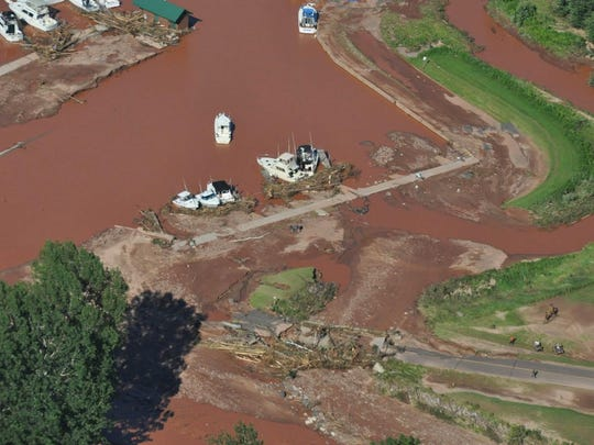 Flooding and heavy rainfall on Tuesday nearly destroyed