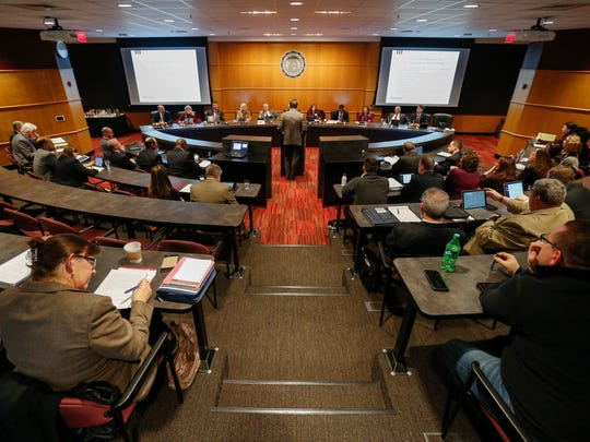 The Missouri State University Board of Governors meets at Plaster Student Union on Friday, Feb. 3, 2017.