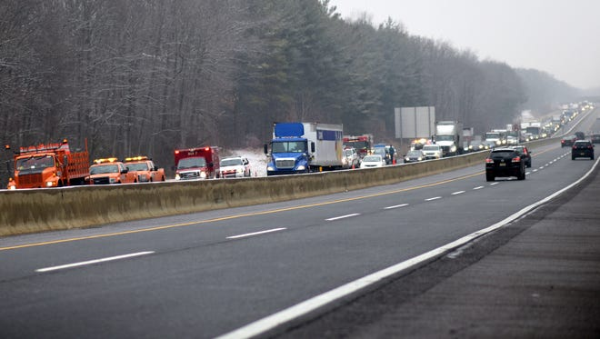 Traffic is backed up on the New Jersey Turnpike as police investigate fatal accident.