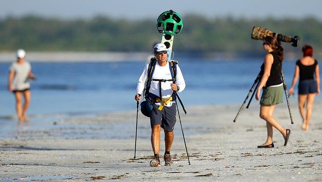 Google Maps team member David DeLong maps Fort Myers Beach in  October.