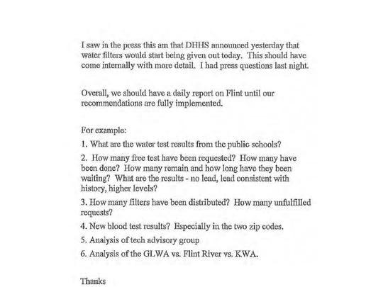 Page 109 of Gov. Rick Snyder's Flint e-mails.