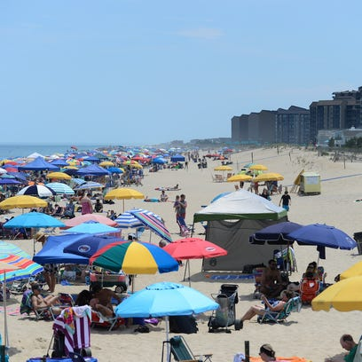 Umbrellas can be seen for miles at Bethany Beach during