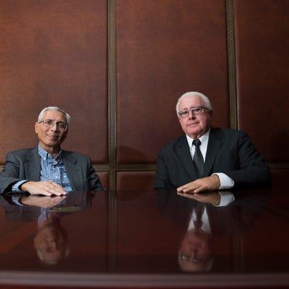 Vincent Marolda, left, and Jim Geraci Jr. pose for