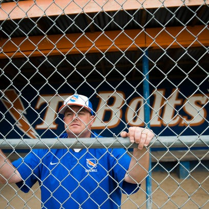 Millville baseball coach Kenny Williams poses for a