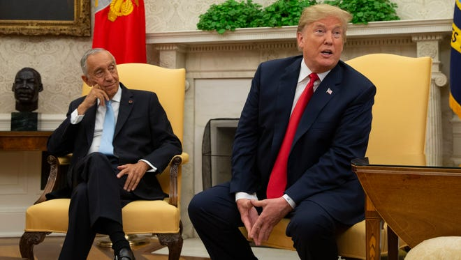 President Trump met with President of Portugal Marcelo Rebelo de Sousa in the Oval Office at the White House on Wednesday.