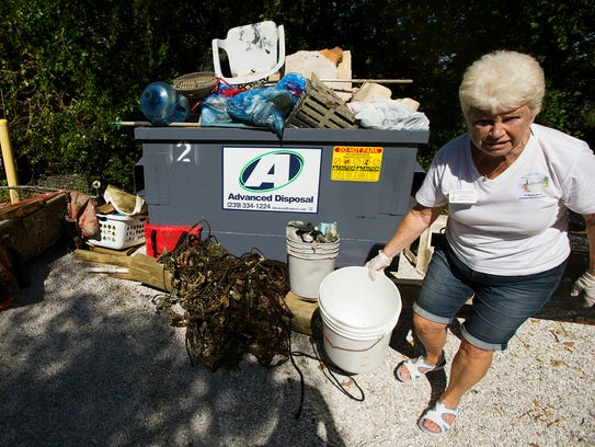 More than 3,000 pounds of debris and four pounds of