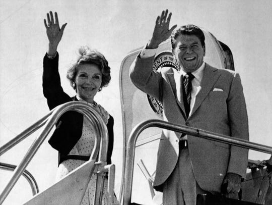 President Ronald Reagan, shown here in Phoenix in 1983, played a larger-than-life role in the Pardlo family.