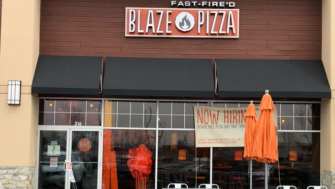 Blaze Fast Fire'd Pizza will open a 2,300-square-foot open-kitchen restaurant with seating for 60 on Thursday, March 29, at 316 Chimney Rock Road. To celebrate the opening of the company's newest locally owned and operated Bridgewater restaurant, anyone who visits Blaze's new location from 11 a.m. to 10 p.m.Friday, March 30,and follows the brand on Instagram, Twitteror Facebook will receive a freebuild-your-own pizza.