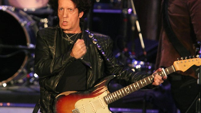 """Willie Nile, pictured on state at the Paramount Theatre in Asbury Park in 2015, released """"World War Willie"""" this year."""
