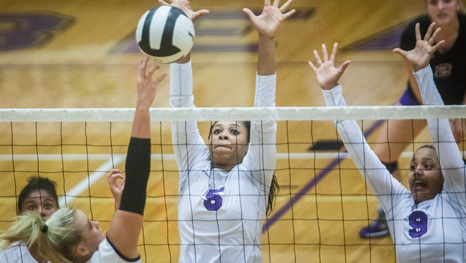 Central defeated Delta 3-0 at the Muncie Fieldhouse in 2015. Central will be led by seven seniors in 2016, including E'Laisah Young, center.