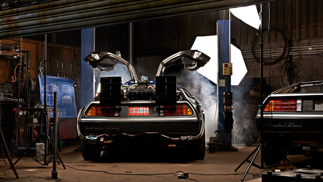 The studio where artist Cyrill Hatt will photograph a DeLorean DMC-12 for the sculpture.