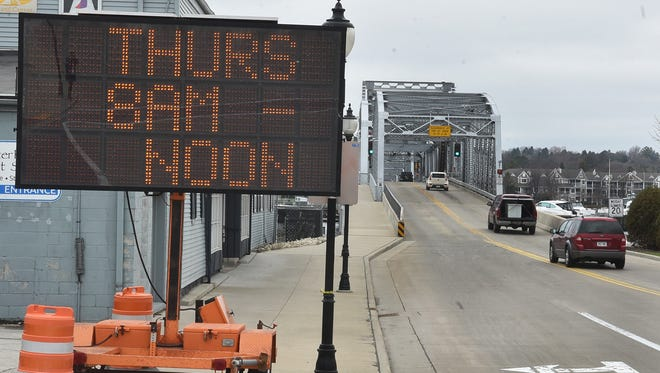 The Michigan Street Bridge will close from 8 a.m. to noon Thursday for further DOT inspection of the historic steel bridge. The upper portal braces were hit by a truck transporting construction equipment Friday.