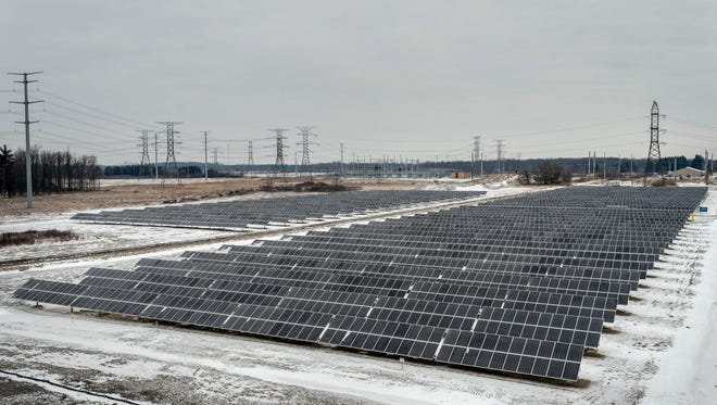 A new 15-acre solar energy facility has been installed at the DTE Greenwood Energy Center in Avoca. The facility, which began operating Jan. 29, is currently the largest solar array in Michigan and has the capacity to produce 1.95 megawatts of electricity.