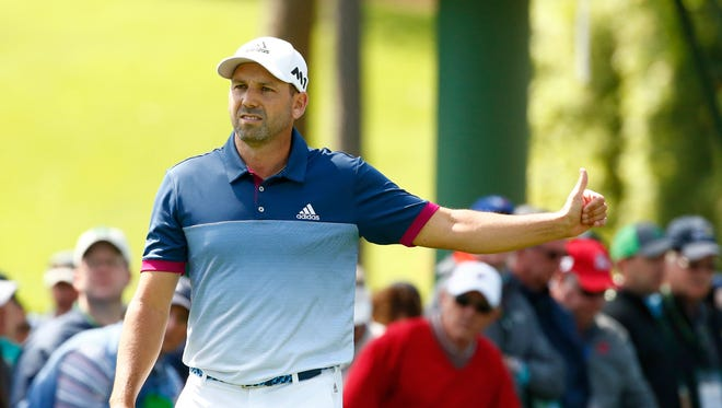 Sergio Garcia is tied for the lead at The Masters after two rounds.