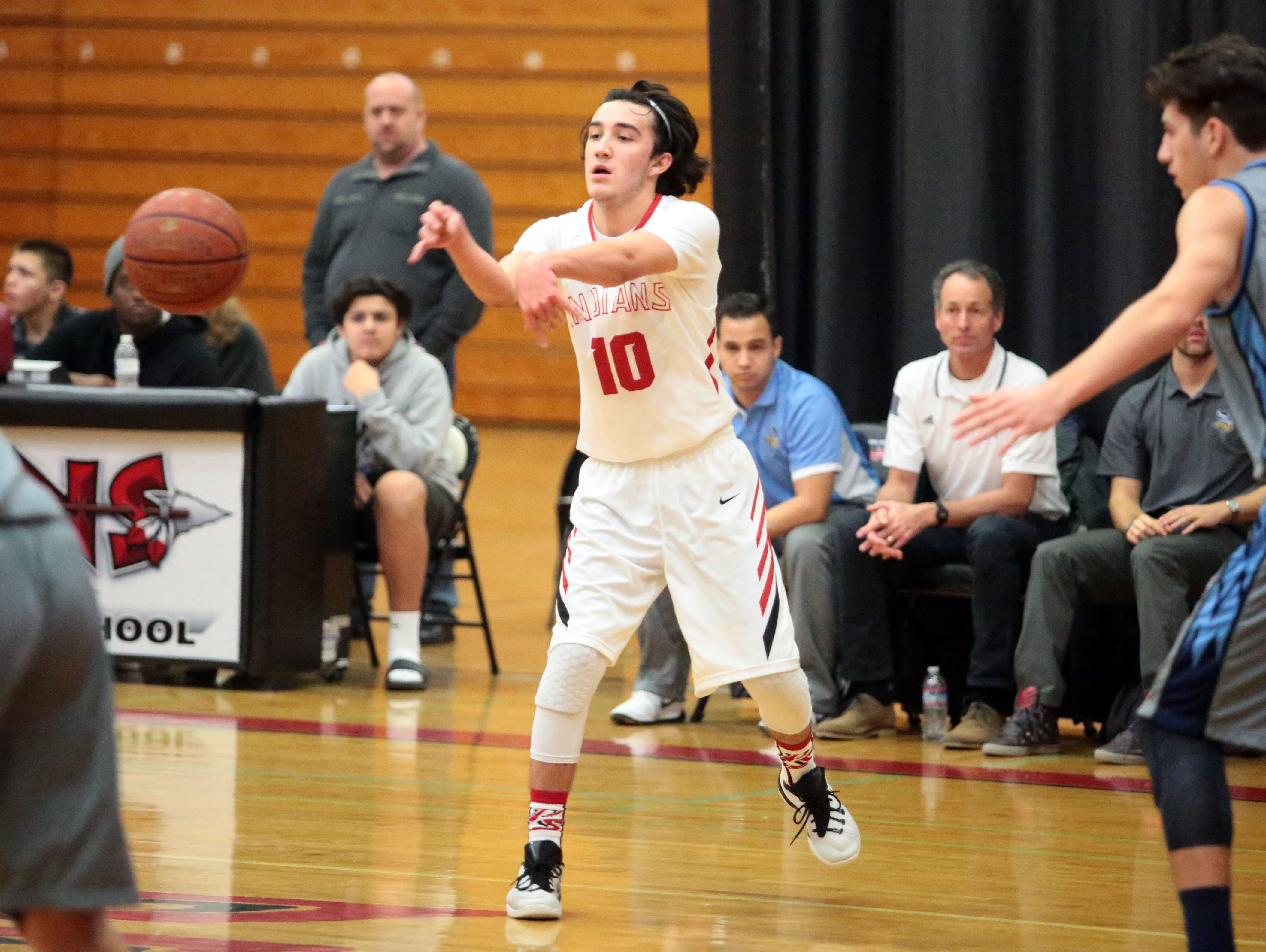 Palm Springs and Marina basketball action on Saturday during the Desert Showcase in Palm Springs.