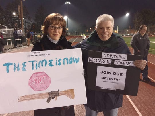 Irene and Les Linet of Indivisible Monroe Township,