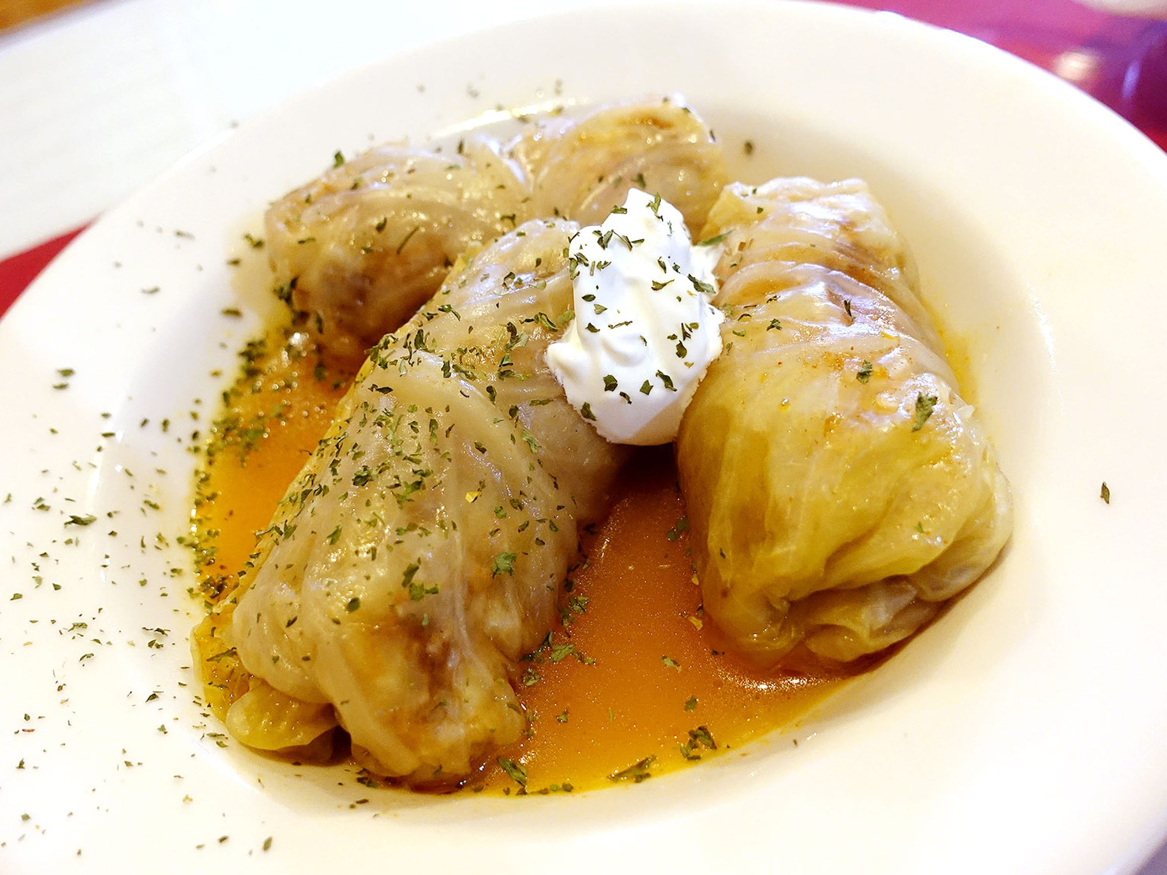 Cabbage rolls at Old Town Sarajevo in Phoenix.