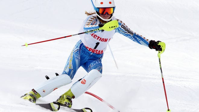 Rye's Frida Henningsson placed 15th in the state slalom.