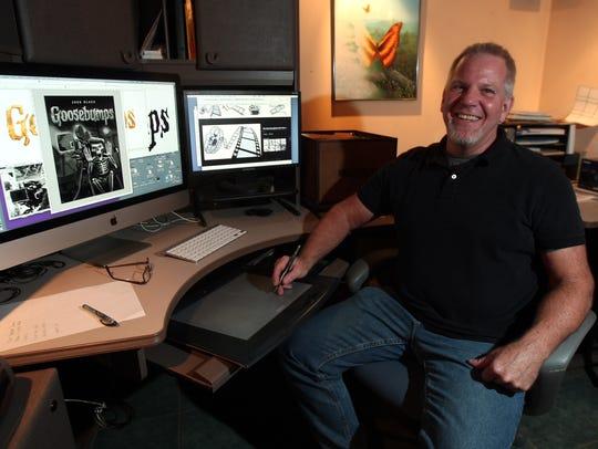 Budd Lake artist Tim Jacobus who designed all of the