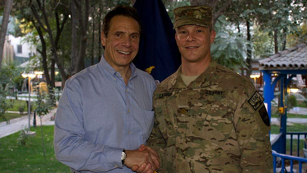 In September, Gov. Andrew Cuomo joined other governors on a trip to Afghanistan, where they were briefed about terrorism and met with service members from their respective states.