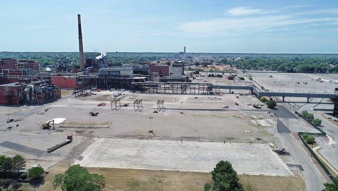 Construction is under way at Eastman Business Park at the corner of Lake Avenue and Eastman Avenue in Rochester Friday, July 13, 2018.