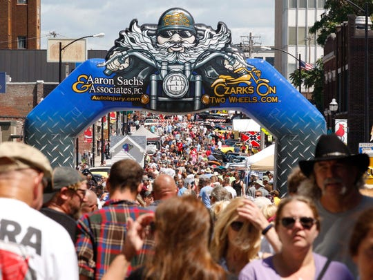 Thousands gathered for the Route 66 festival in downtown Springfield on August 13, 2016.